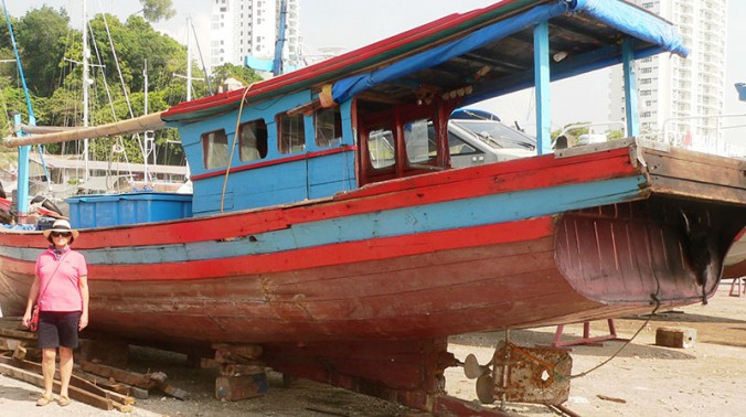 Confiscated boat to be disassembled and the timber recycled.