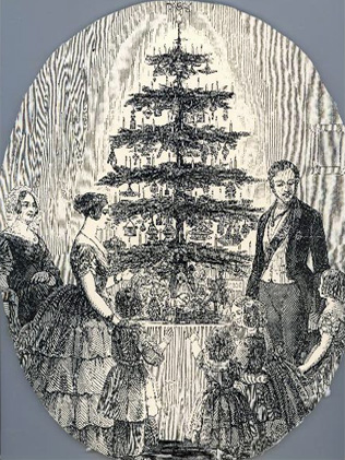 "Queen Victoria and family popularised the Christmas tree in 1846"".."